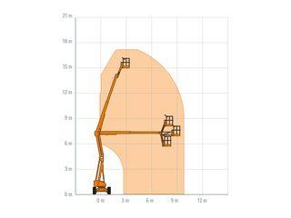 Kloubová vysokozdvižná pracovní plošina 17 m